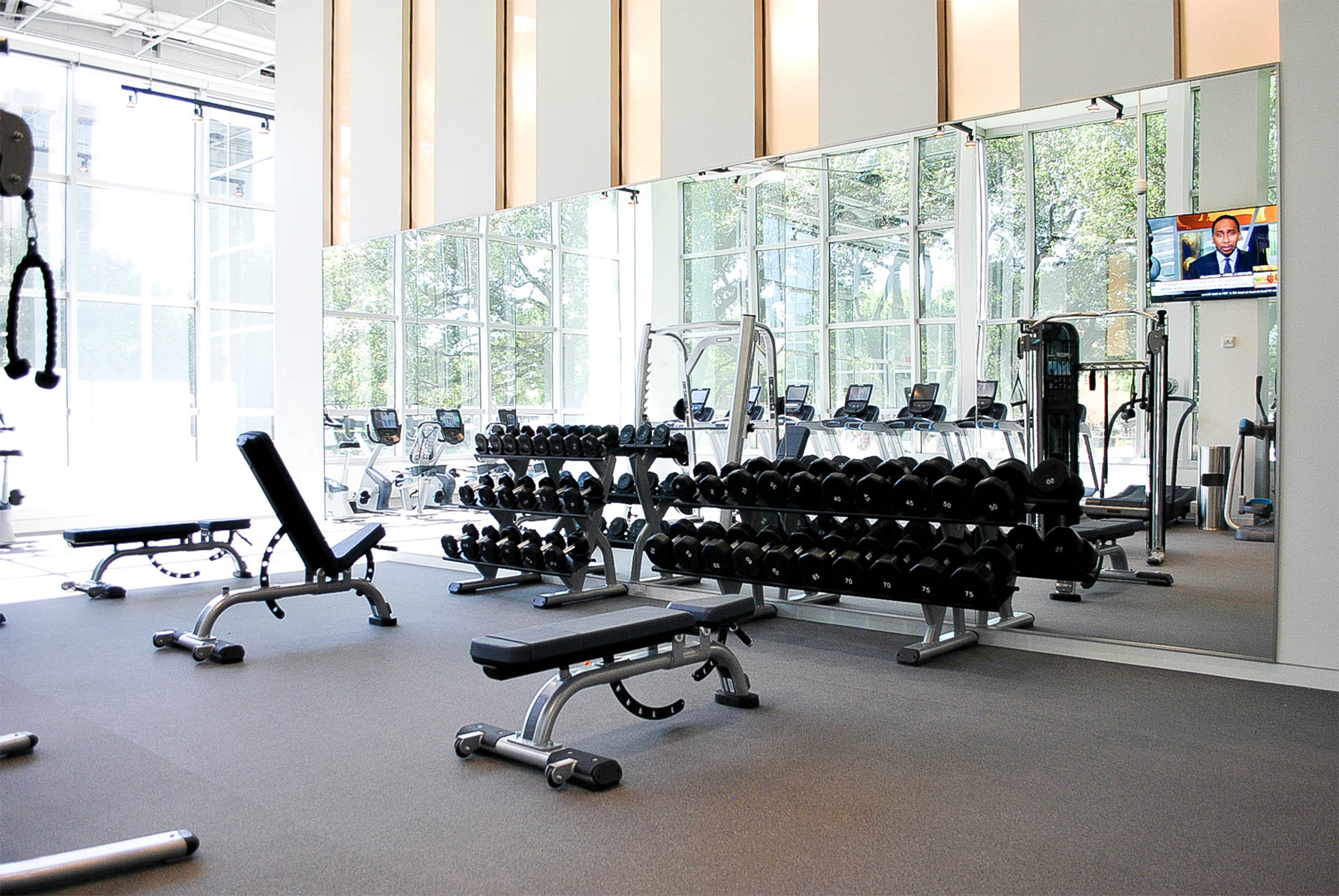 Fitness center at williams tower
